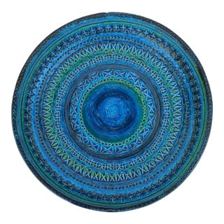 Large Rimini Blue Pottery Console Bowl by Aldo Londi for Bitossi