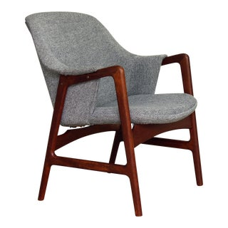 1950s Mid-Century Modern Ingmar Relling for Westnofa Teak Arm Chair For Sale