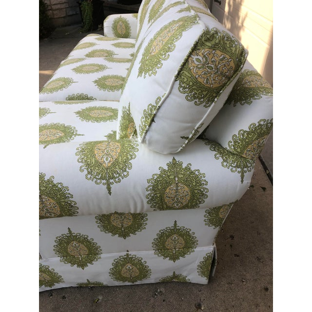 Green Modern Upholstered Ikat Print Sofa by Century Furniture For Sale - Image 8 of 13