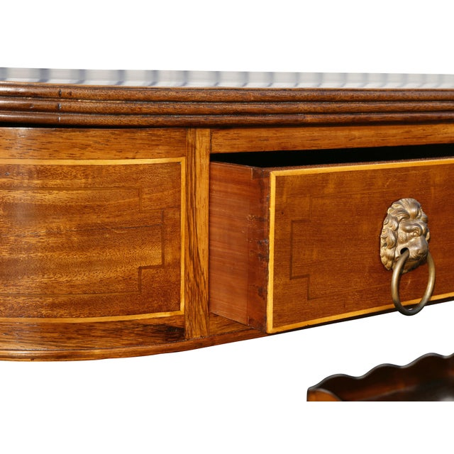 Early 19th Century Regency Mahogany Writing Table For Sale - Image 5 of 13