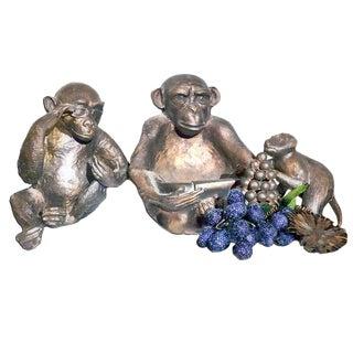 1990's Bronze Chimpanzee Figurines - Set of 3 For Sale