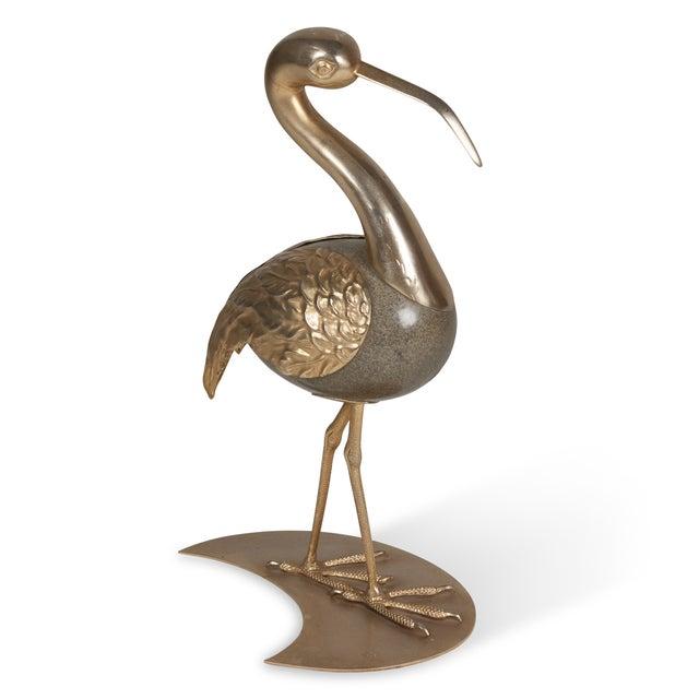 Brass Standing Ibis Sculpture - Image 4 of 7