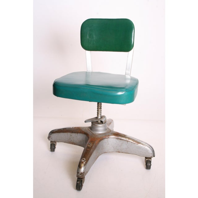 Vintage Industrial Swivel Office Chair by Cole Steel - Image 4 of 11