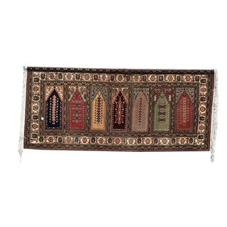 Vintage Moroccan Oriental Area Rug/Wall Hanging Tapestry For Sale