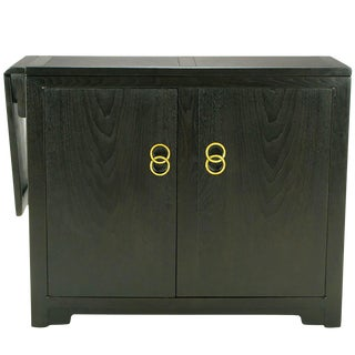 Michael Taylor for Baker Custom Bar With Built-In Refrigerator For Sale