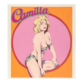 1989 Screenprint by Mel Ramos, Camilla For Sale