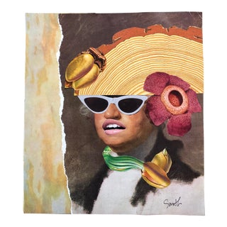 """Nancy Smith Contemporary Original Collage, """"Oh George"""" For Sale"""