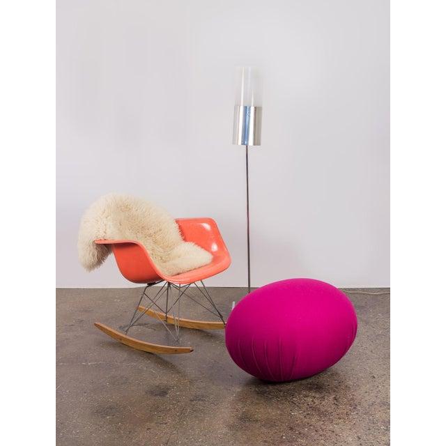 Eames Orange Armchair on Rocker Base For Sale - Image 11 of 11