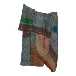 Accented Sky Vintage Throw