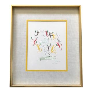 Vintage Picasso La Ronde de la Jeunesse Print Repro Framed