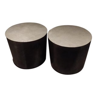 International Craft Design Custom Drum Side Tables - A Pair