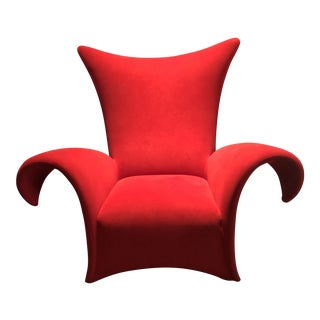 "Cantoni Dallas Cherry UltraSuede ""Valencia"" Club Chair For Sale"