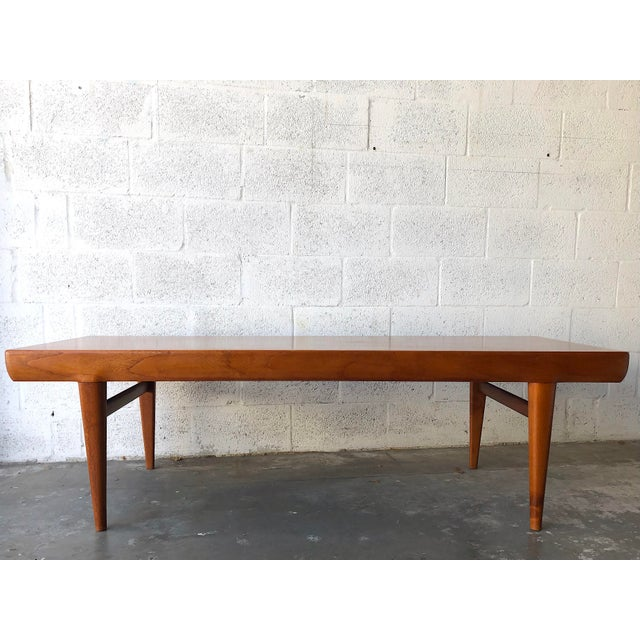 Vintage Mid Century Danish Modern Johannes Andersen Coffee Table for C F C Silkeborg Beautifully crafted coffee table...