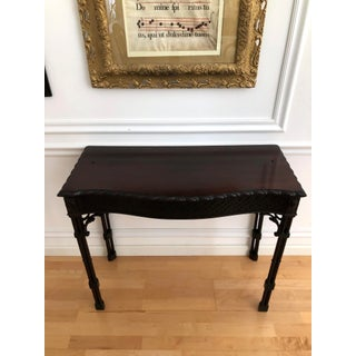 Classic English Chinese Chippendale Mahogany Console Table Preview