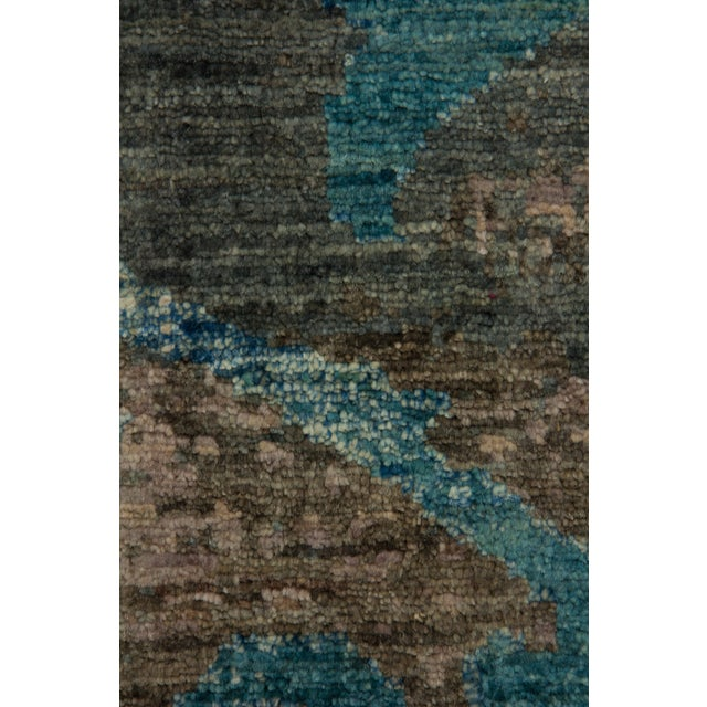 """Contemporary Contemporary Hand-Knotted Rug- 6'1"""" x 9'4"""" For Sale - Image 3 of 3"""