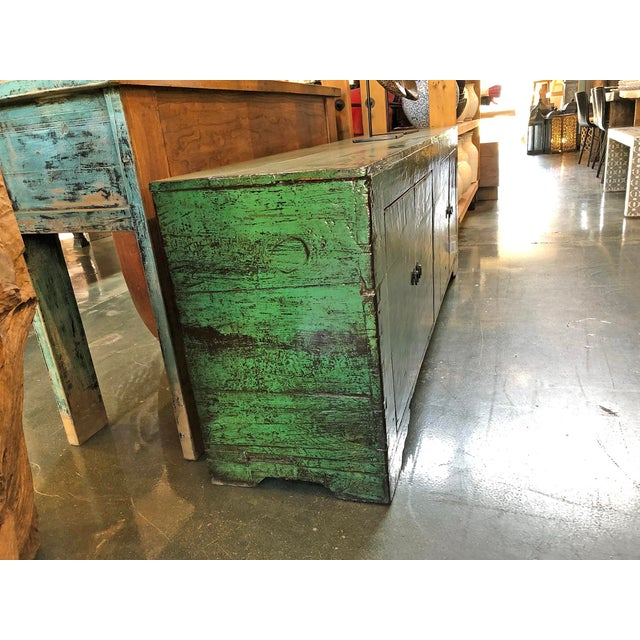 2010s Emerald Green Mongolian Sideboard For Sale - Image 5 of 8