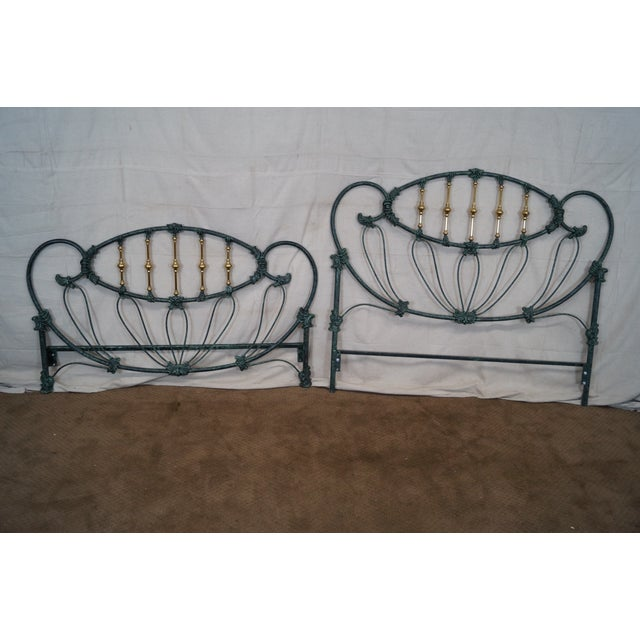 Renaissance Elliots Designs Inc. Queen Headboard & Footboard For Sale - Image 3 of 10