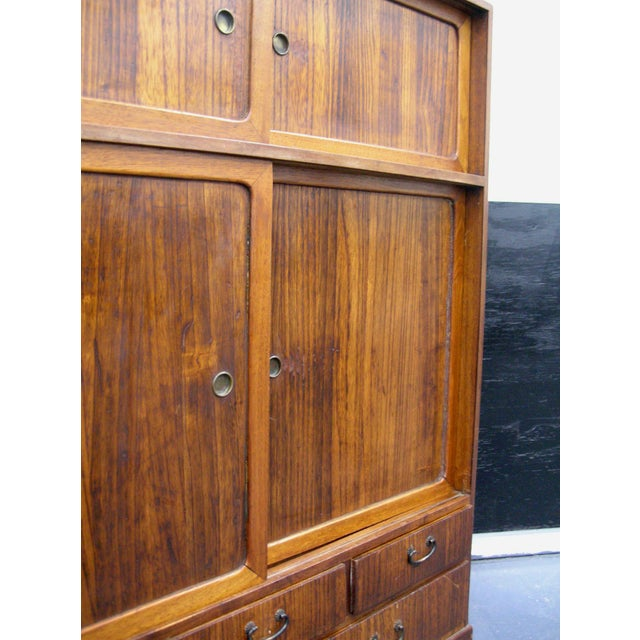 Late 19th Century Reserved 19th Century Small Japanese Tansu Cabinet For Sale - Image 5 of 12