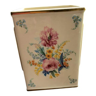 Vintage Decorative Floral Vase For Sale
