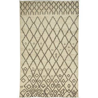 """Moroccan Hand Knotted Area Rug - 5'1"""" X 8'4"""""""