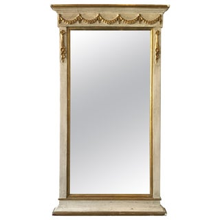 1960s French Style Wood and Gilt Mirror For Sale