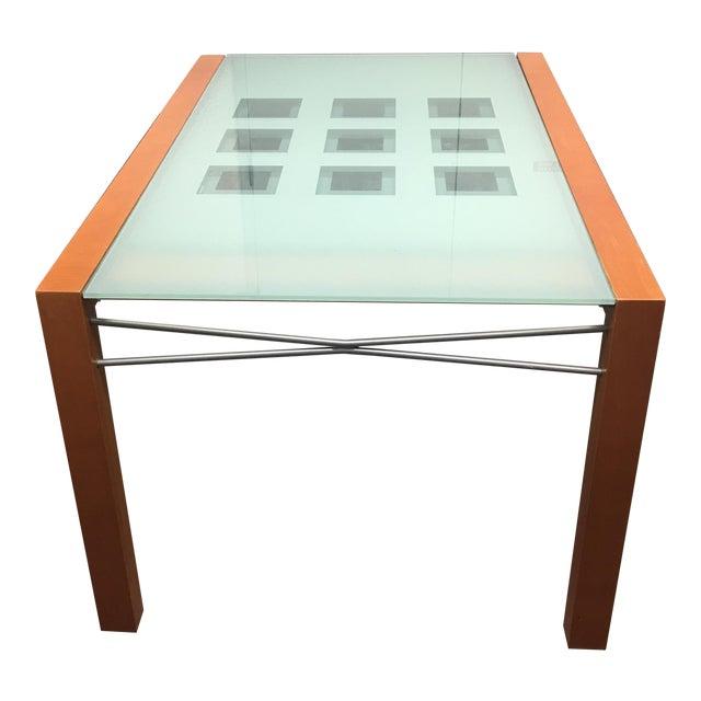 Ligne Roset Extensia Cherry & Glass Dining Table | Chairish