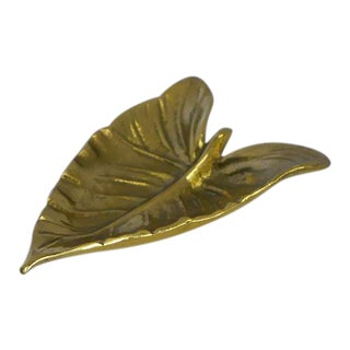 """Virginia Metalcrafters """"Calla Lily"""" Leaf Dish For Sale"""