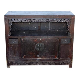 Vintage Chinese 2-Door Cabinet For Sale