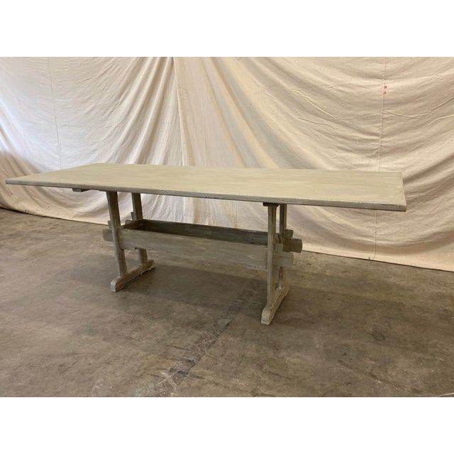 Swedish Painted Trestle Dining Table For Sale - Image 10 of 10