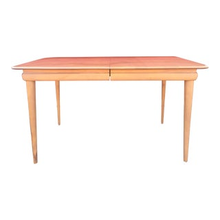 1960s Mid Century Modern Heywood Wakefield Dining Table With Leaf For Sale