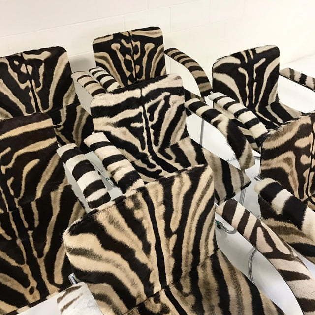 Giovanni Offredi for Saporiti Lens Chairs in Zebra - Set of 8 - Image 7 of 11