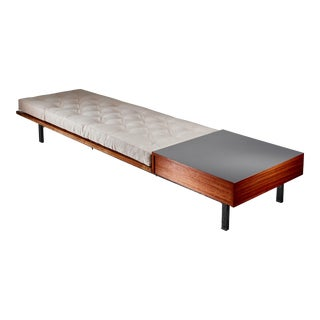 Charlotte Perriand Cansado Slat Bench with Drawer, 1950s For Sale