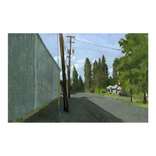 "Sarah F. Burns ""C Street, Phoenix, Oregon"" Landscape Painting For Sale"