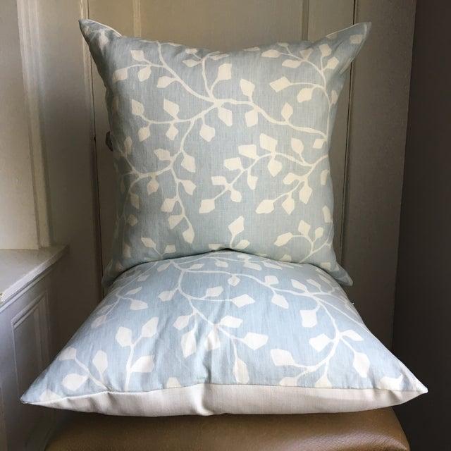Powder Blue Linen Pillows - A Pair - Image 4 of 4