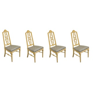 Mount Airy Furniture Country French Splat Back Side Chairs- Set of 4 For Sale