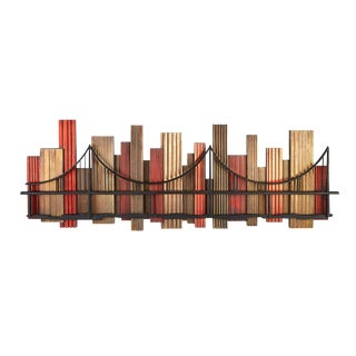 Mid-Century Skyline Wall Sculpture For Sale
