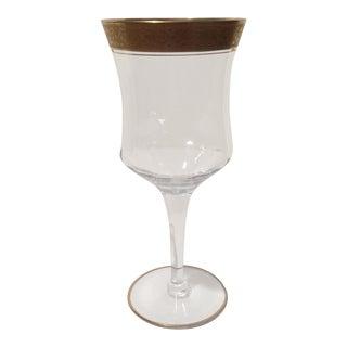 Tiffin Franciscan Rambling Rose Crystal Wine Glasses - Set of 8 For Sale