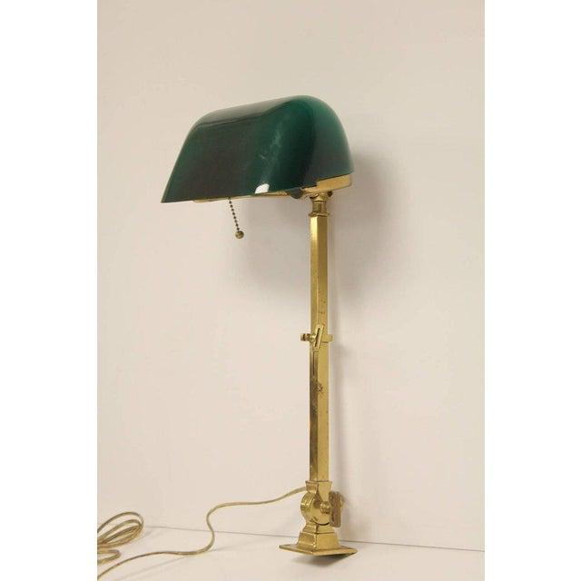 H.F. McFaddin & Co. 1920s American Emeralite Brass Adjustable Desk Lamp For Sale - Image 4 of 5
