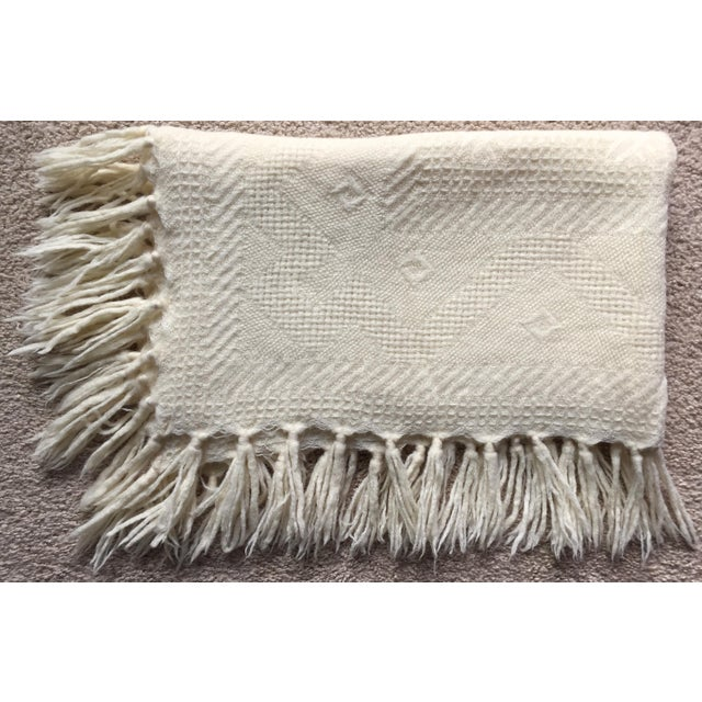 Vintage Wool Hand-Woven Child's Blanket - Image 2 of 5