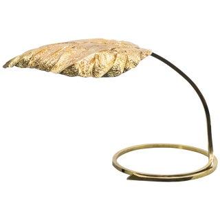 Hollywood Regency Rhubarb Brass Table Lamp Tommaso Barbi, 1970s For Sale