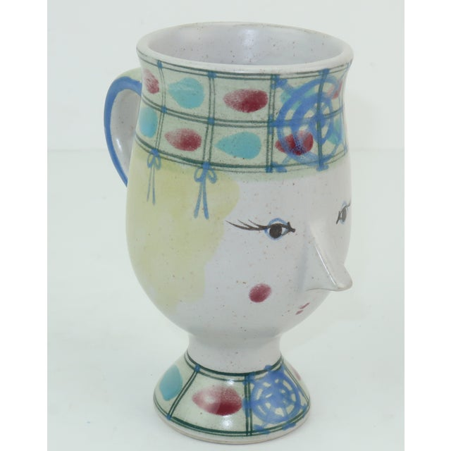 Ceramic Vintage Fitz & Floyd Figural Mugs Cups, a Pair For Sale - Image 7 of 11
