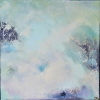 Original Modern Abstract Oil on Canvas by C. Damien Fox For Sale