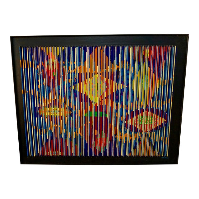 Louvered Abstract Painting by Louis Nadalini For Sale