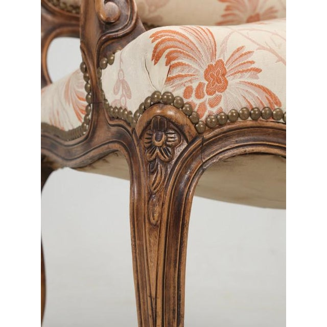 Antique French Louis XV Style Pair of Arm Chairs For Sale - Image 12 of 13