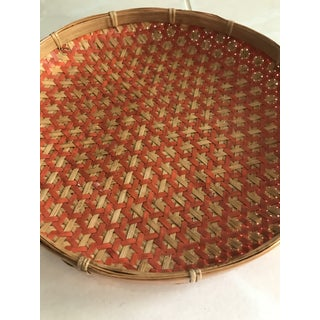 Boho Chic Round Woven Nesting Wall Basket Tray Preview