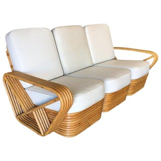 Restored Five-Strand Square Pretzel Sectional Sofa For Sale