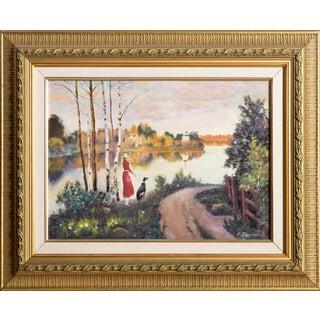 Erik Freyman, Lakeside, Acrylic For Sale