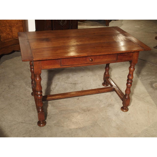 Antique Cherry and Walnut Wood Side Table, 18th Century For Sale - Image 12 of 12