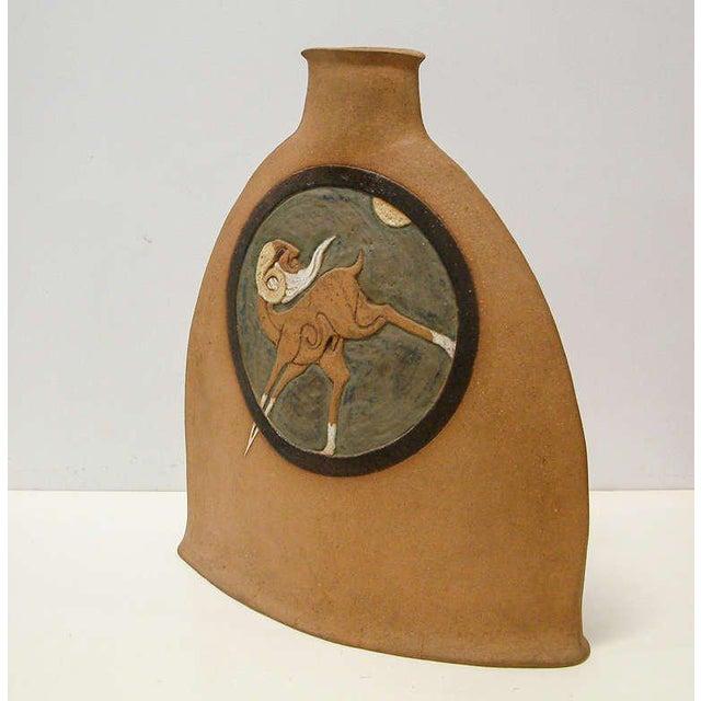 Mid-Century Modern Nittenegger Stoneware Vase For Sale - Image 3 of 10