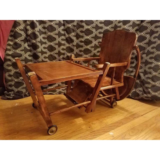 Vintage Child's High Chair and Art Desk - Image 3 of 3